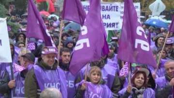 Министър Петкова се срещна с протестиращи миньори и енергетици от Марица-изток