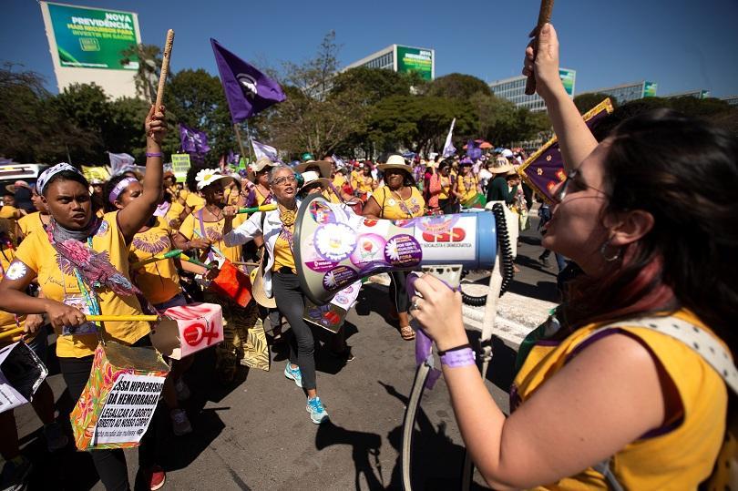 Снимка: Жени протестираха срещу бразилския президент