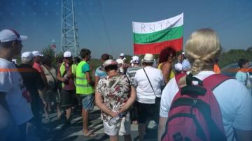 В Атия протестираха срещу изграждането на площадка за опасни битови отпадъци