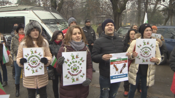 Родители излязоха на протест в подкрепа на баща лишен от родителски права