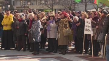 Жители на Благоевград излязоха на протест в подкрепа на кмета Румен Томов
