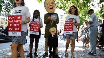 Хиляди на протест срещу Борис Джонсън в Лондон