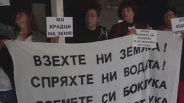 Пореден протест на жителите на Черноморец срещу продажбата на военен имот