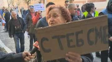Продължава и протестът в подкрепа на Иван Гешев пред ВСС