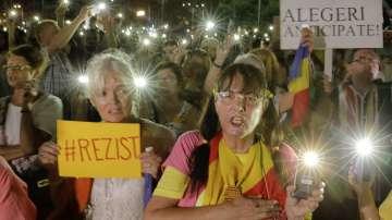 Антиправителствени протести се проведоха в Румъния