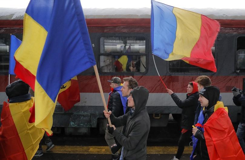 Румънци се събират на протест в Букурещ. Жителите на Северната