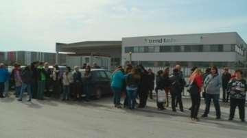 Протест на шивачки заради неизплатени заплати