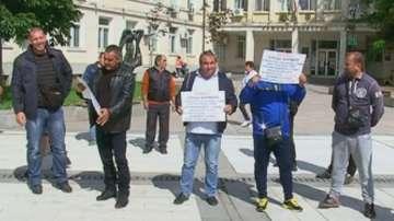 Строители на протест в Силистра
