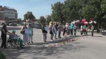 Протест на майки на деца с увреждания от Силистра