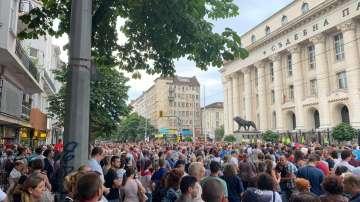 Протест в София срещу кандидатурата на Иван Гешев за главен прокурор
