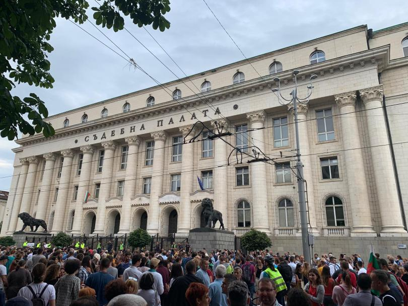 снимка 3 Протест в София срещу кандидатурата на Иван Гешев за главен прокурор