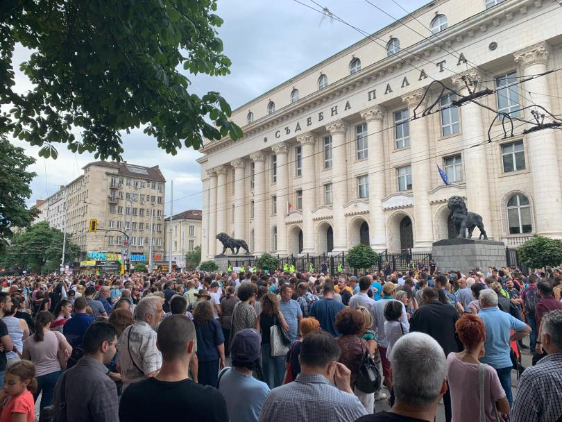 снимка 4 Протест в София срещу кандидатурата на Иван Гешев за главен прокурор