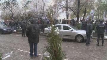 Протест на таксиметрови шофьори пред Столичната община