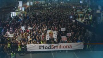 18 поредна демонстрация в Белград срещу президента Александър Вучич