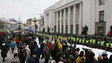 Привърженици на Саакашвили протестират в Киев