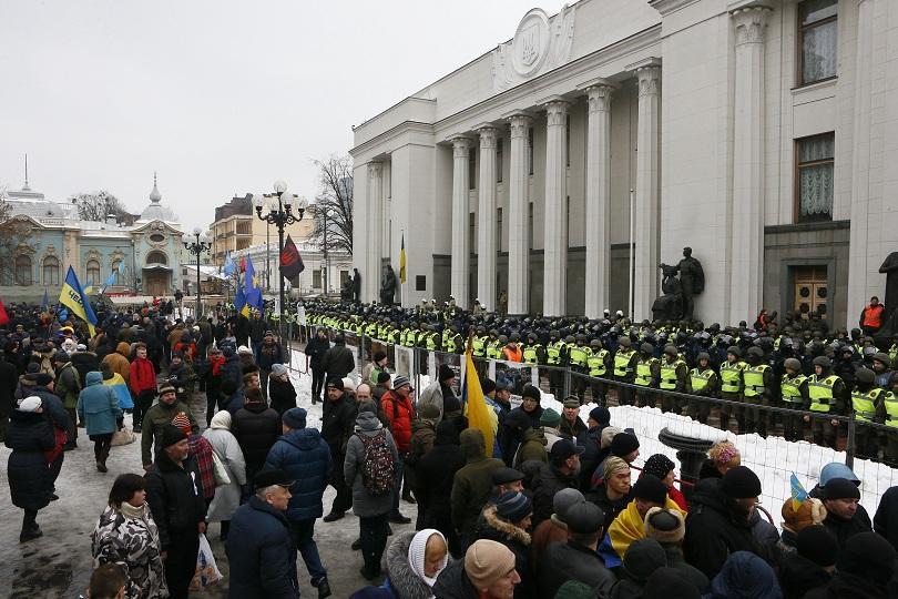 Привърженици на Михаил Саакашвили протестираха в Киев с искане за