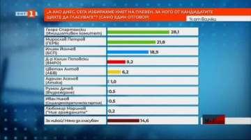 Кметските избори в Плевен най-вероятно ще се решат на балотаж