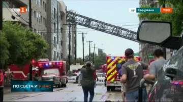 Жертва и ранени след рухване на строителен кран в Далас