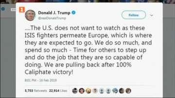 Тръмп: Европа да приеме обратно и да съди заловените от Ислямска държава
