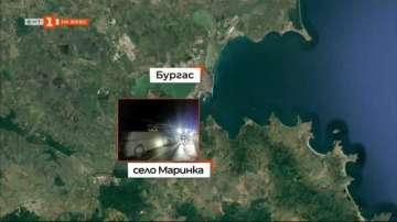 Автобус с 51 пътници се запали край Бургас