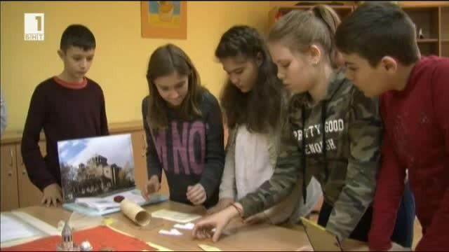 Образователна пъзел-стая за шестокласници отвори врати за първи път в