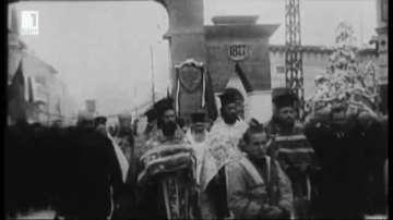 Първото документирано с видео честване на Трети март е от 1927 г.