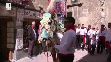 Състезание с винени коне в Испания