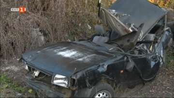 Шофьор без книжка уби себе си и две деца при катастрофа край Плевен