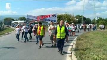 Протест на жители на пловдивски села срещу добива на инертни материали