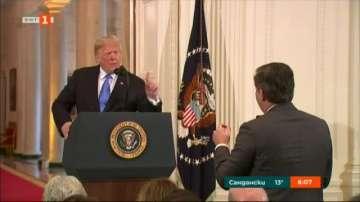 Тръмп влезе в спор с журналиста на CNN за Белия дом
