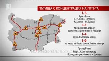 Най-опасните пътни участъци в страната