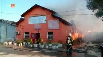 Овладян е пожарът в пловдивския сладкарски цех