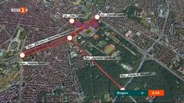 Промени в движението около стадион Васил Левски заради футболен мач