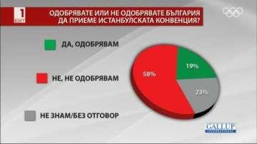 Галъп: 86% от българите са чували за Истанбулската конвенция