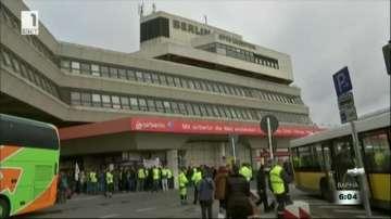 Наземните работници на летищата в Берлин ще стачкуват 25 часа