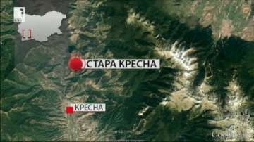 Пожарът над село Стара Кресна не е овладян, но няма опасност за населението