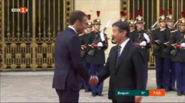 Бъдещият император на Япония принц Нарухито беше приет от президента Макрон