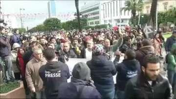 Протести в Тунис за годишнина от Революцията на жасмина