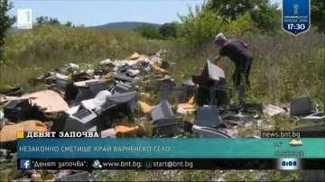 Незаконно сметище в село Тополи