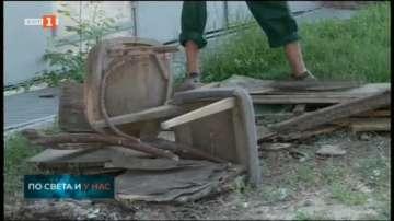 В Пловдив общинската фирма по чистотата извозва стари мебели
