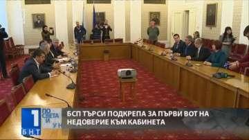 БСП започна да търси подкрепа за първи вот на недоверие към кабинета Борисов 2