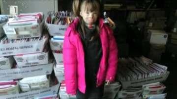 Малко момиченце получи 200 000 картички за Коледа след трогателен призив