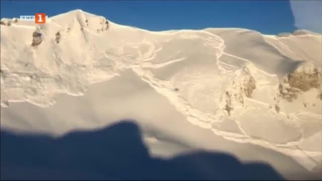 Снимка: Контролирано активиране на лавини в Швейцария