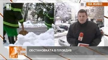 Свикан е кризисният щаб в Пловдив заради снега