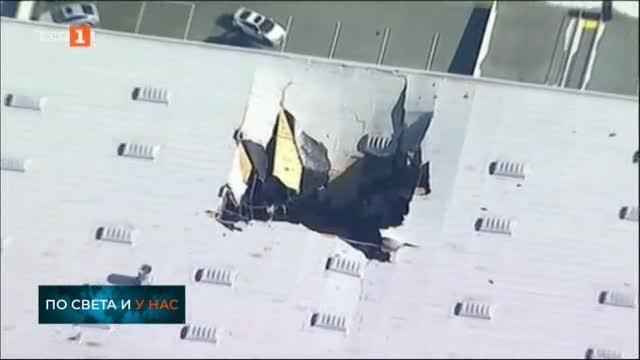 Изтребител F-16 се разби в склад във военна база в