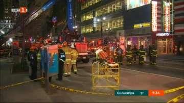 Строителен кран се срути в Ню Йорк, един човек е ранен (ВИДЕО)