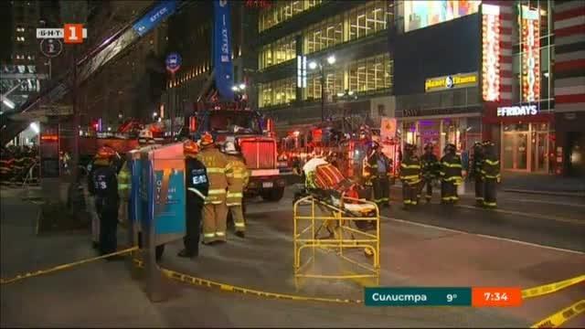 Един човек е ранен, след като строителен кран се срути
