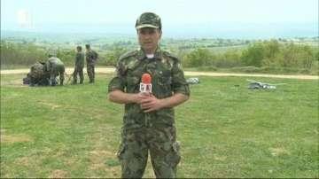 Учение на Сухопътните войски се провежда на полигона Корен