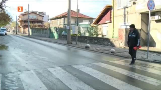 След сигнал до БНТ, опасна пешеходна пътека в Пловдив ще