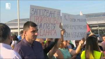 Толева махала и Божурище на протест срещу трафика на тежкотоварни автомобили